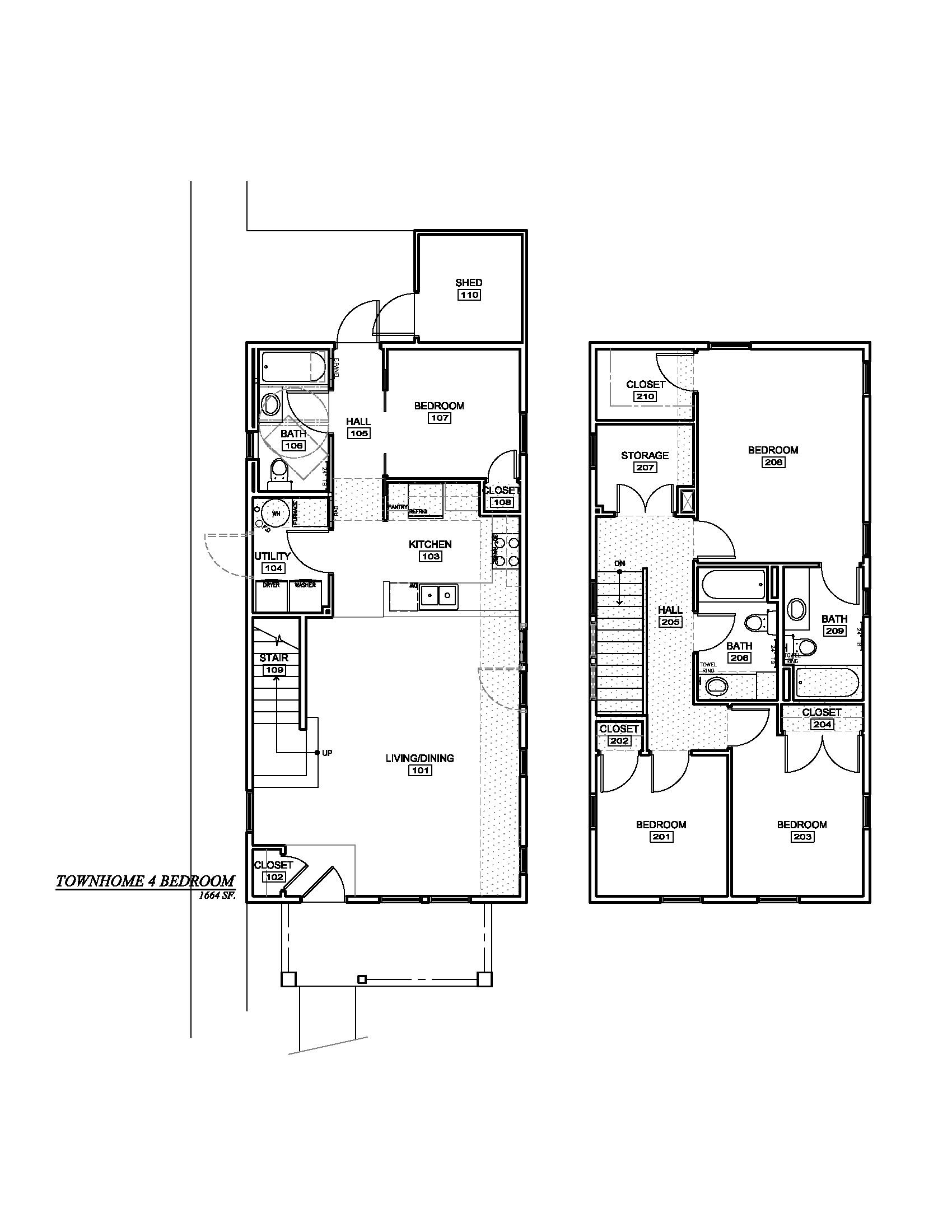 four bedroom townhome emerald ridge homes